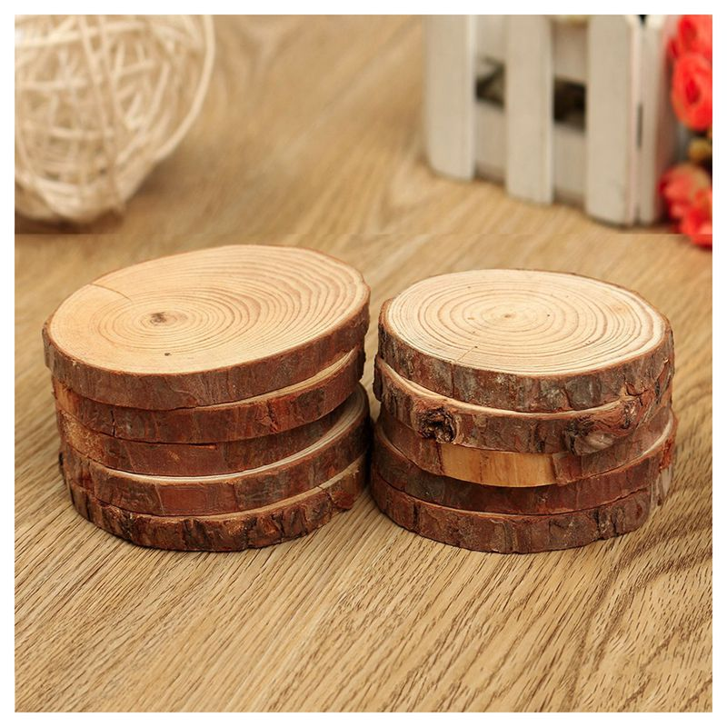 Delicieux Image Is Loading 10PCS Natural Tree Round Wood Log Slice For