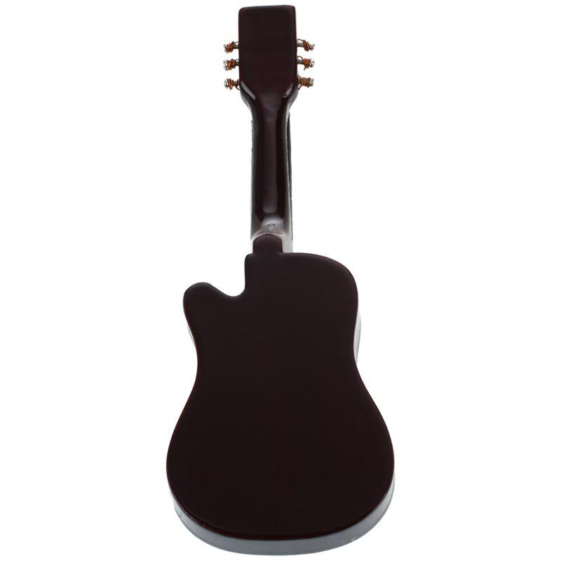 2X-1-12-Dollhouse-Miniature-Music-Instrument-Acoustic-Guitar-Yellow-and-Bro-L7B7 thumbnail 3