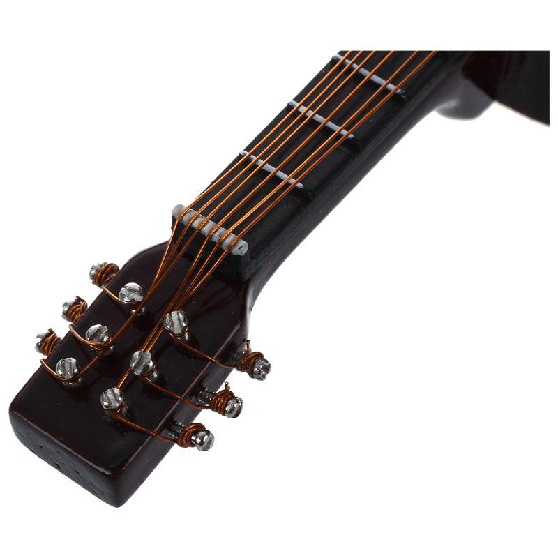 2X-1-12-Dollhouse-Miniature-Music-Instrument-Acoustic-Guitar-Yellow-and-Bro-L7B7 thumbnail 5