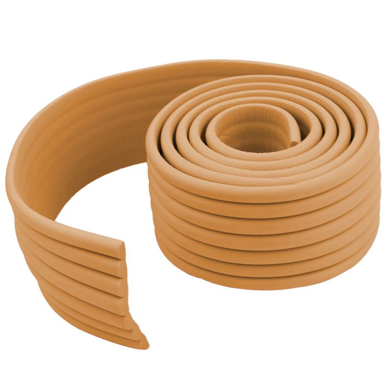 Furniture-Corner-Edge-Safety-Cushion-Guard-Wood-Color-with-Adhesive-Tape-D5P9 thumbnail 2