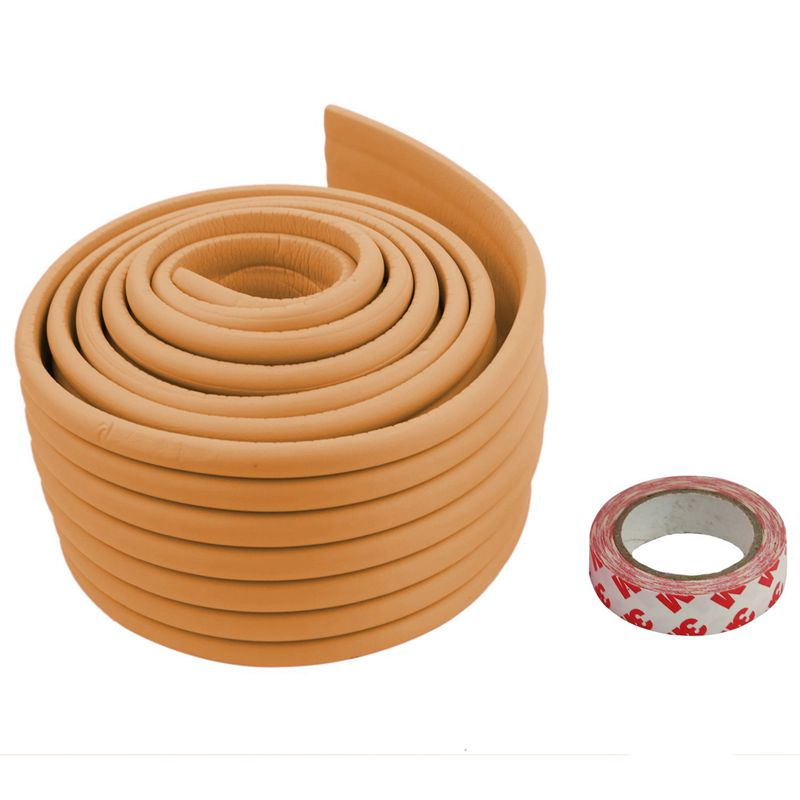 Furniture-Corner-Edge-Safety-Cushion-Guard-Wood-Color-with-Adhesive-Tape-D5P9 thumbnail 4