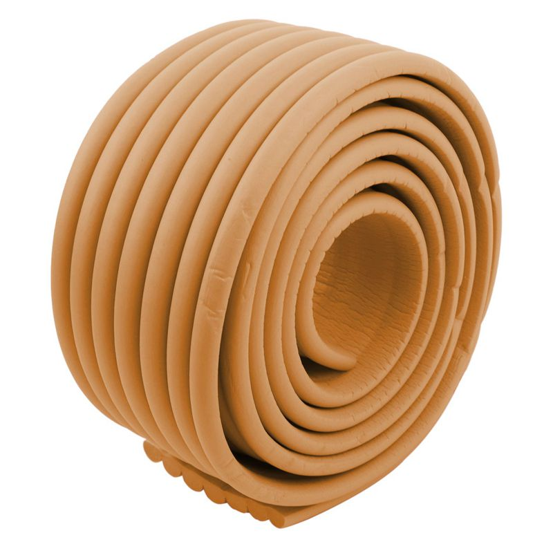 Furniture-Corner-Edge-Safety-Cushion-Guard-Wood-Color-with-Adhesive-Tape-D5P9