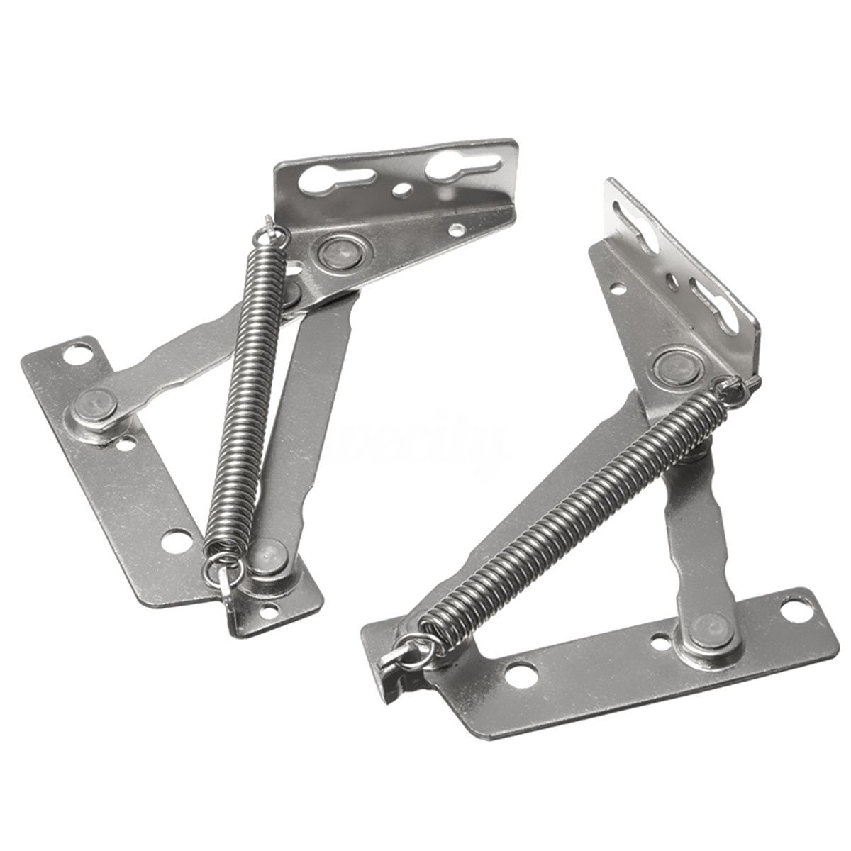 2x 80 Degree Sprung Hinges Cabinet Door Lift Up Stay Flap Top