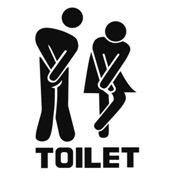 Man and Woman Logo of Creative Toilet Wall Stickers Toilet ...