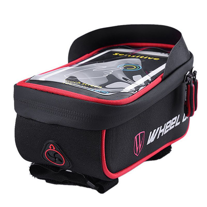 WHEEL-UP-Bike-Bicycle-Cycling-Cell-Phone-GPS-Frame-Holder-Pannier-Case-Bag-H6Q8