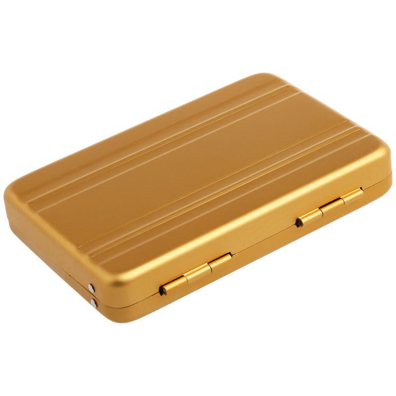 Aluminum-password-box-Card-Case-Mini-suitcase-Password-briefcase-Gold-G7T7 thumbnail 3
