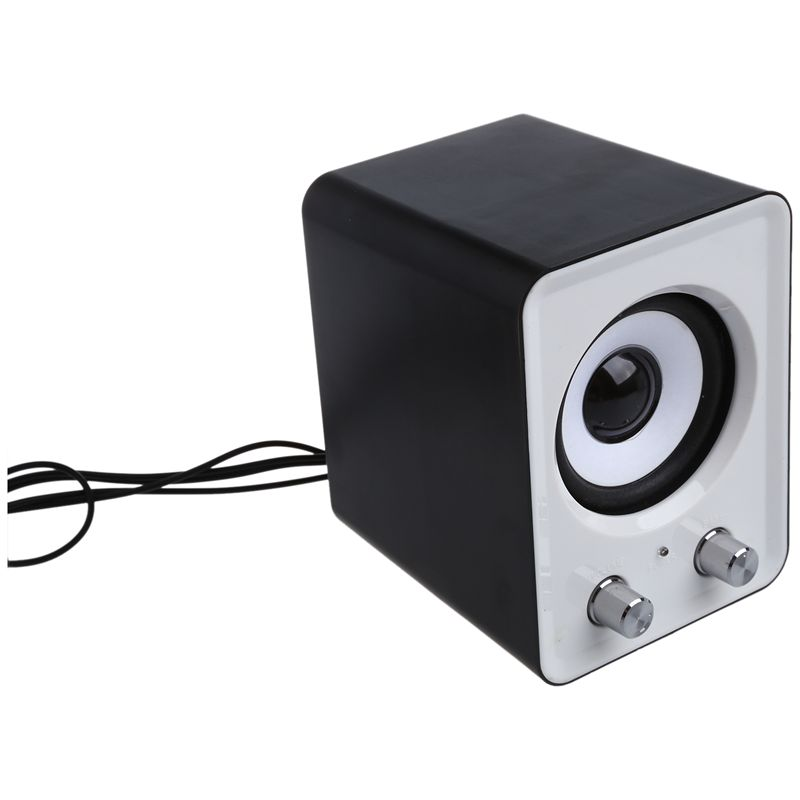 1X-Mini-2-1-multimedia-stereo-portable-USB-Desktop-PC-haut-parleur-blanc-L8R2 miniature 4