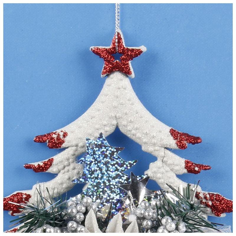 White-Christmas-Home-Door-Window-Ornaments-Christmas-Decoration-Xmas-Tree-H-T6A7 thumbnail 23