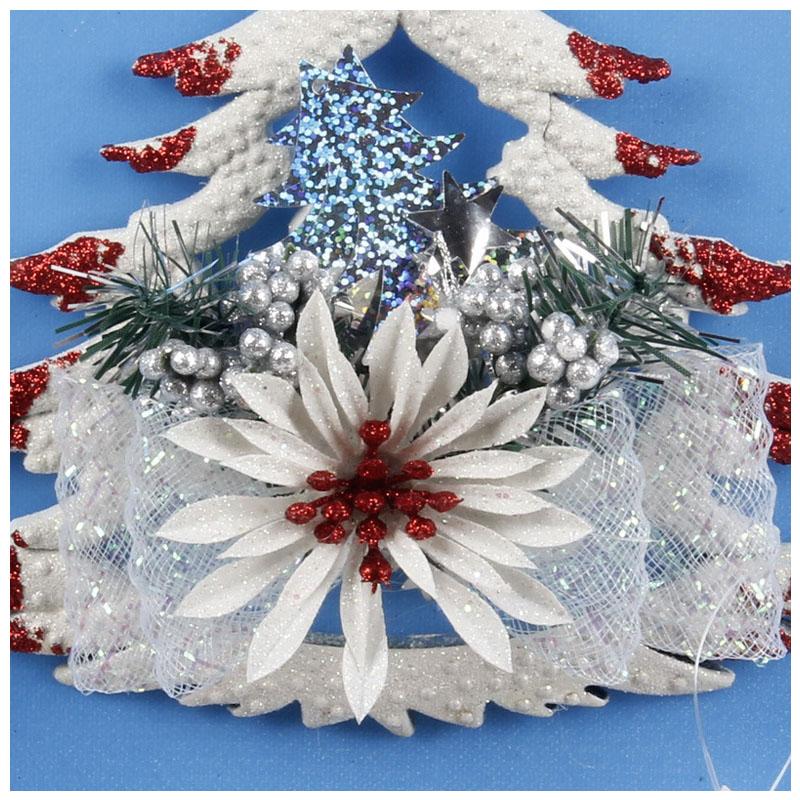 White-Christmas-Home-Door-Window-Ornaments-Christmas-Decoration-Xmas-Tree-H-T6A7 thumbnail 24