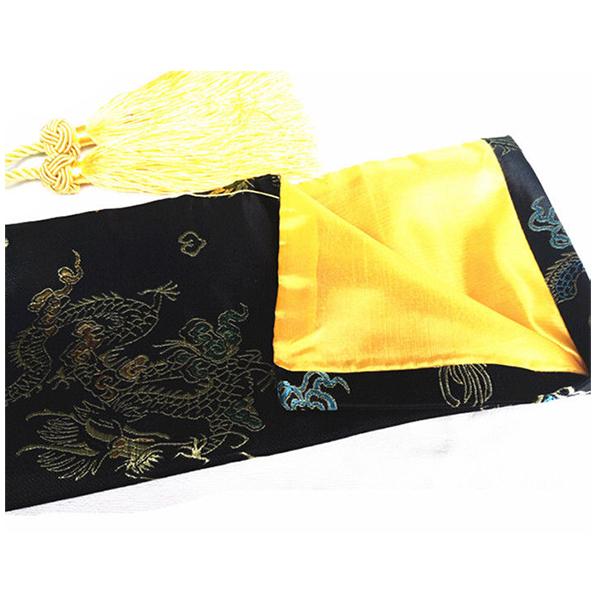 135cm Dragon and Phoenix Katana Samurai Sword Bag Tissu Black C7W1