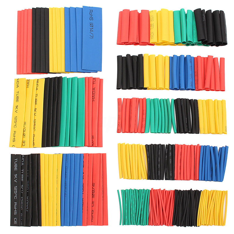 2X-328Pcs-Car-Electrical-Cable-Heat-Shrink-Tube-Tubing-Wrap-Sleeve-Assortm-S1S3