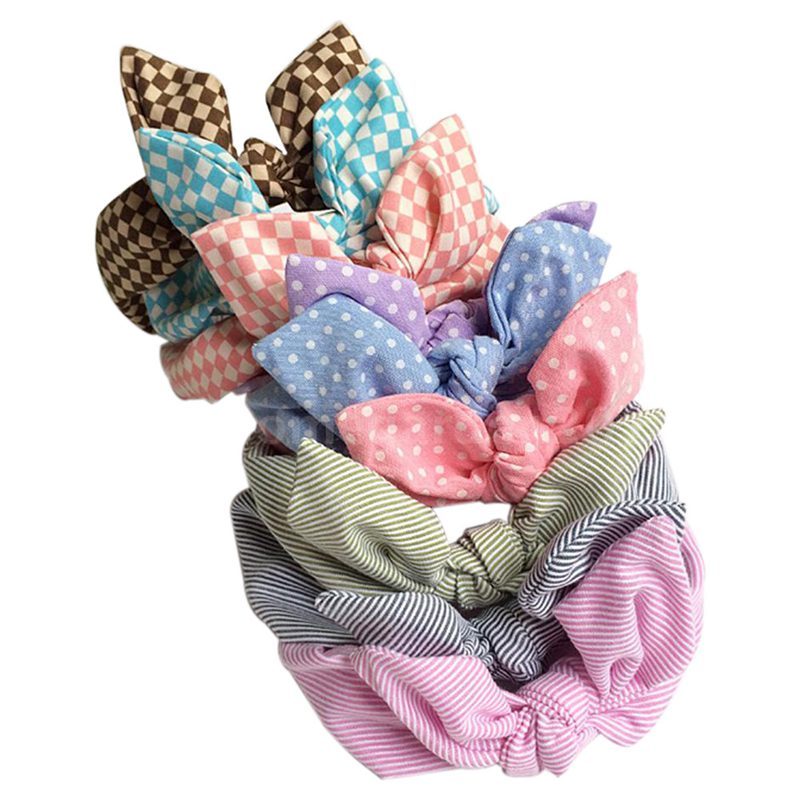 9Pcs Cute Baby Kids Girl Headband Bow Flower Hair Band Headwear Accessories K6U9