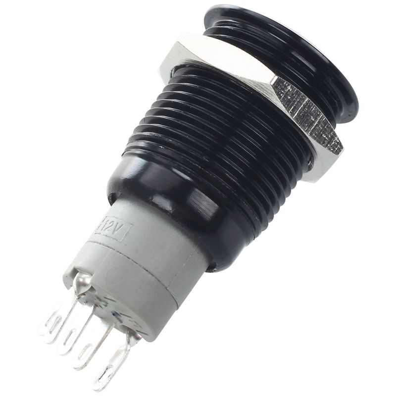 blu 12 V metallo angelo occhio LED auto illuminato 12mm interruttore a pulsante metallo pulsante interruttore bianco facile da installare