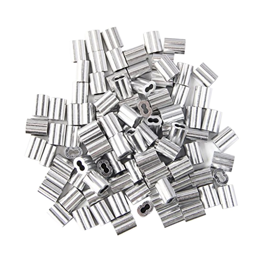 120x aluminum crimping loop sleeve for 2mm diameter wire rope and Aluminum Spring Clamps 120x aluminum crimping loop sleeve for 2mm diameter wire rope and cable g7q9