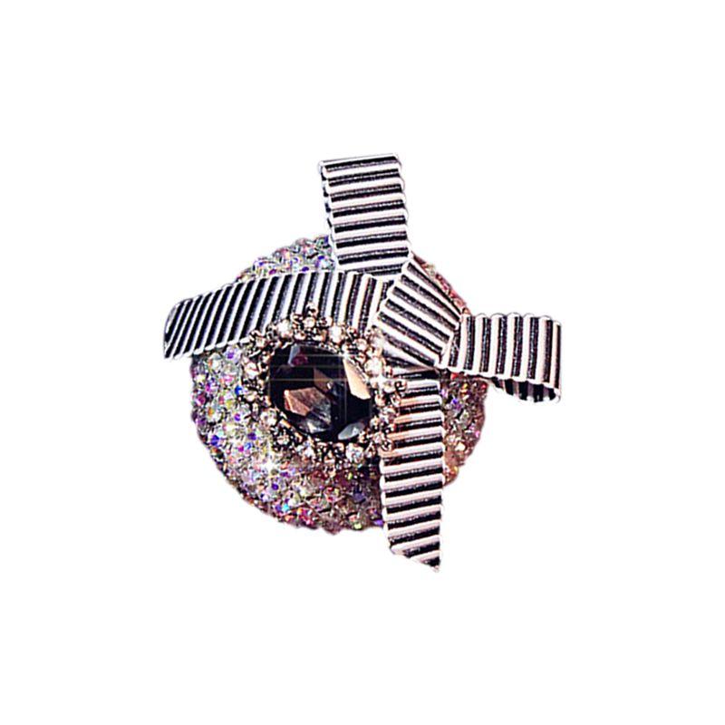 Perfume-del-coche-Clip-del-diamante-Patron-Mariposa-trenzada-F2B5