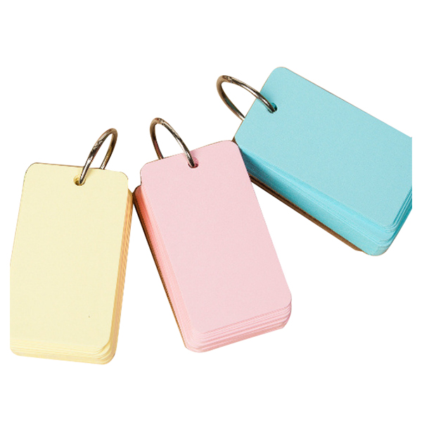 2pcs Binder Ring Easy Flip Flash Cards Study Cards Stationery & School Equipment 100 Blank Pages,yellow M9K3 notebook