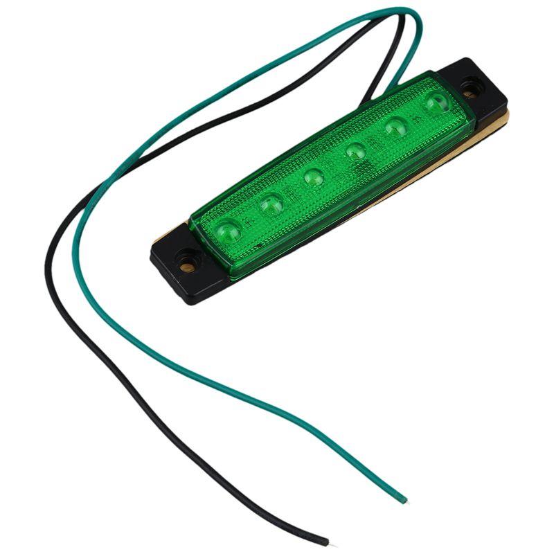 2X-12V-6-LED-Lampara-de-marcador-lateral-Faro-Luz-indicadora-para-coche-cami-T3 miniatura 8