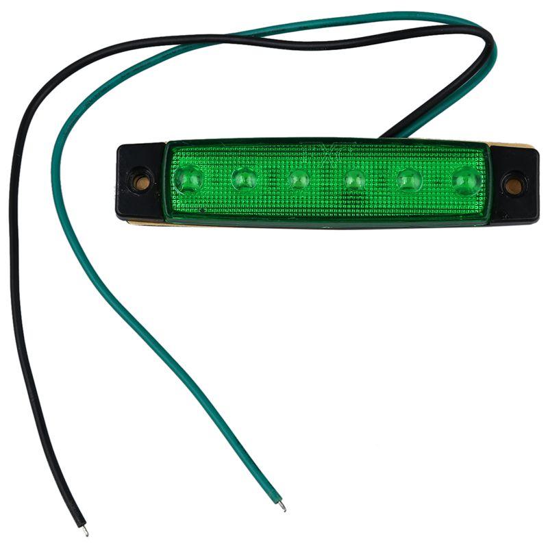 2X-12V-6-LED-Lampara-de-marcador-lateral-Faro-Luz-indicadora-para-coche-cami-T3 miniatura 10