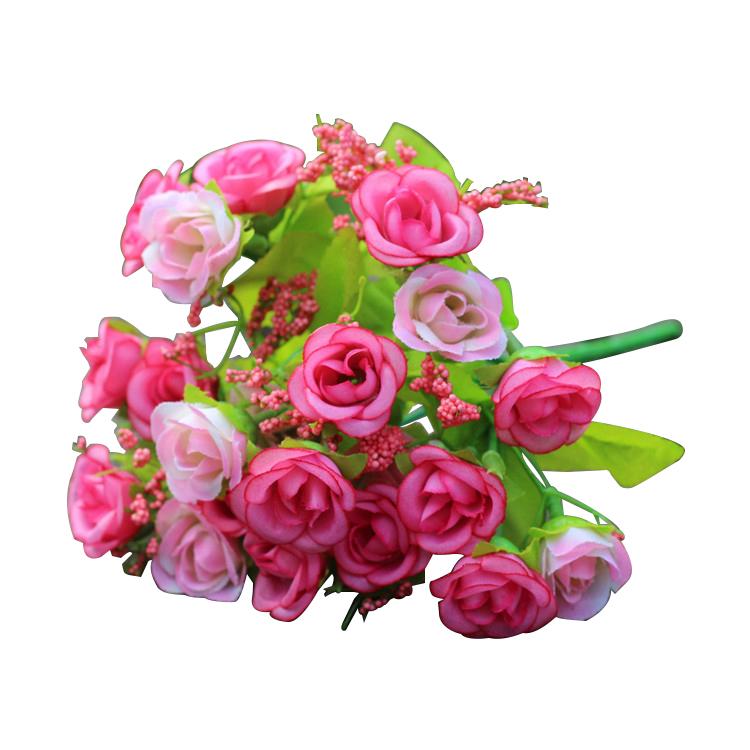 Détails Sur 21pcs Tetes Bouquet Fleurs Artificielle De Rose M4b7