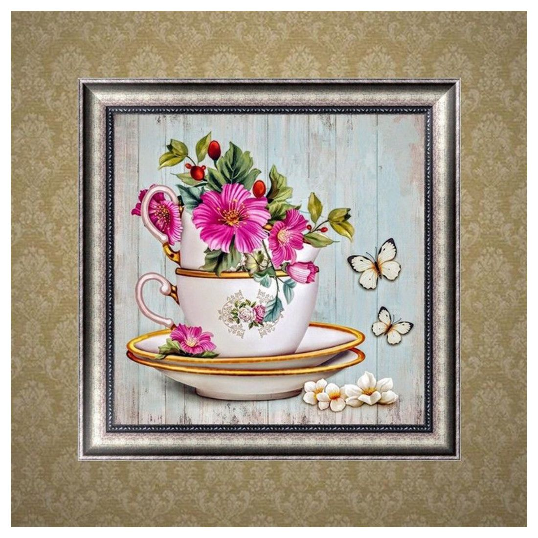 Diy 5d Diamond Embroidery Painting Flower Cross Stitch Home Decor Kit Craft S1f4 Ebay