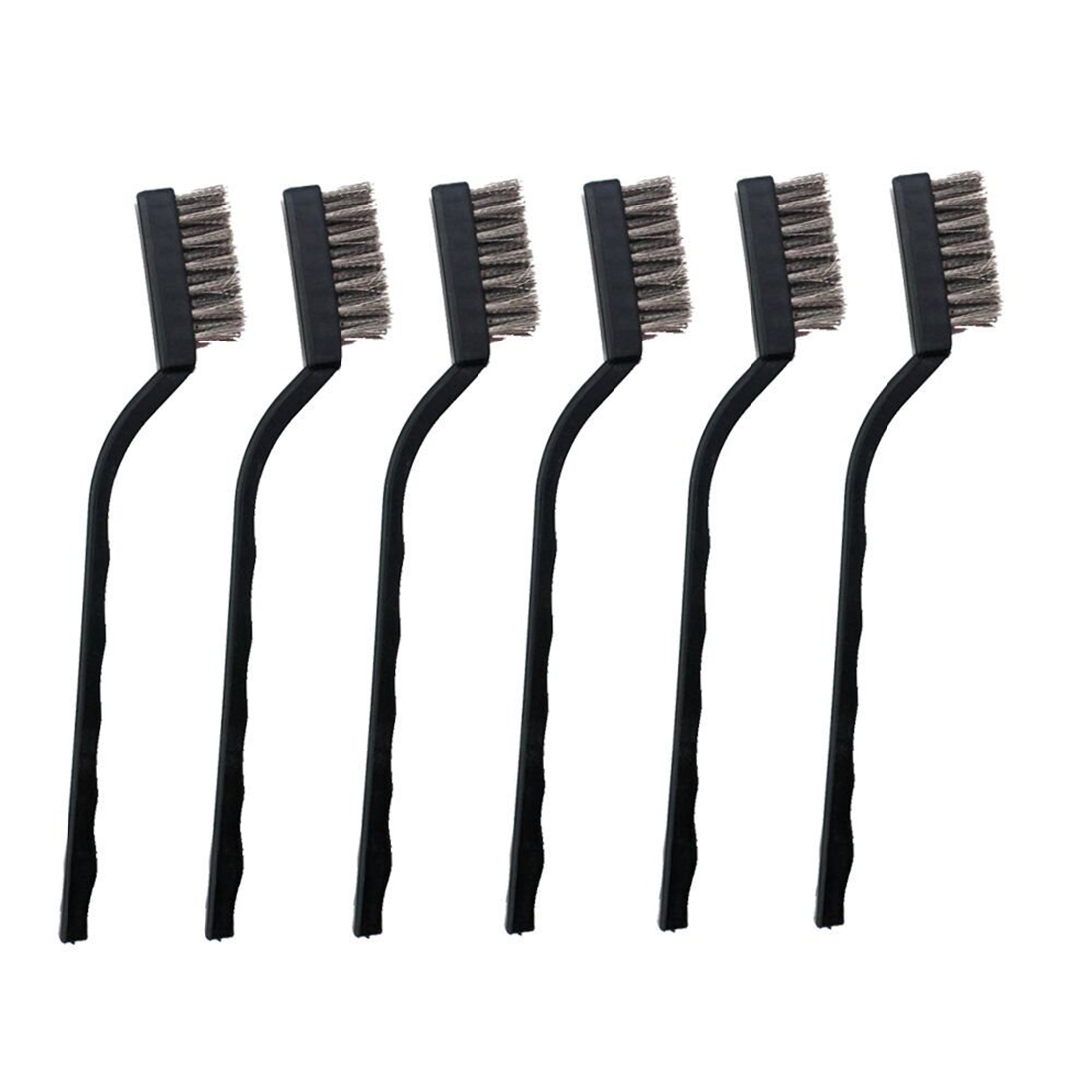 6 Pcs Mini Stainless Steel Wire Brush Set For Cleaning