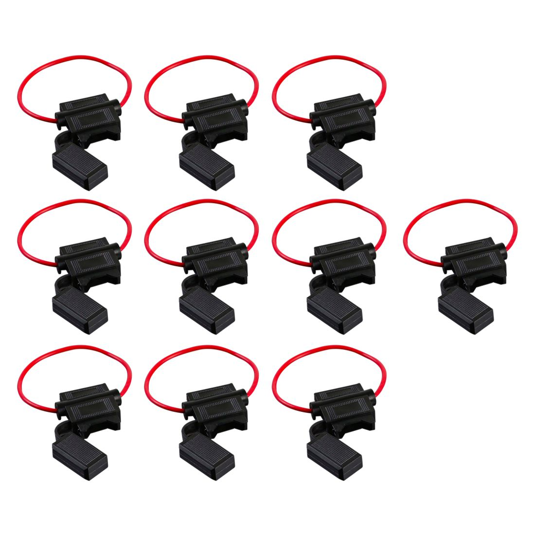 10 Pack 16 Gauge ATC In-Line Blade Fuse Holder Wire Protection Y6F4 ...