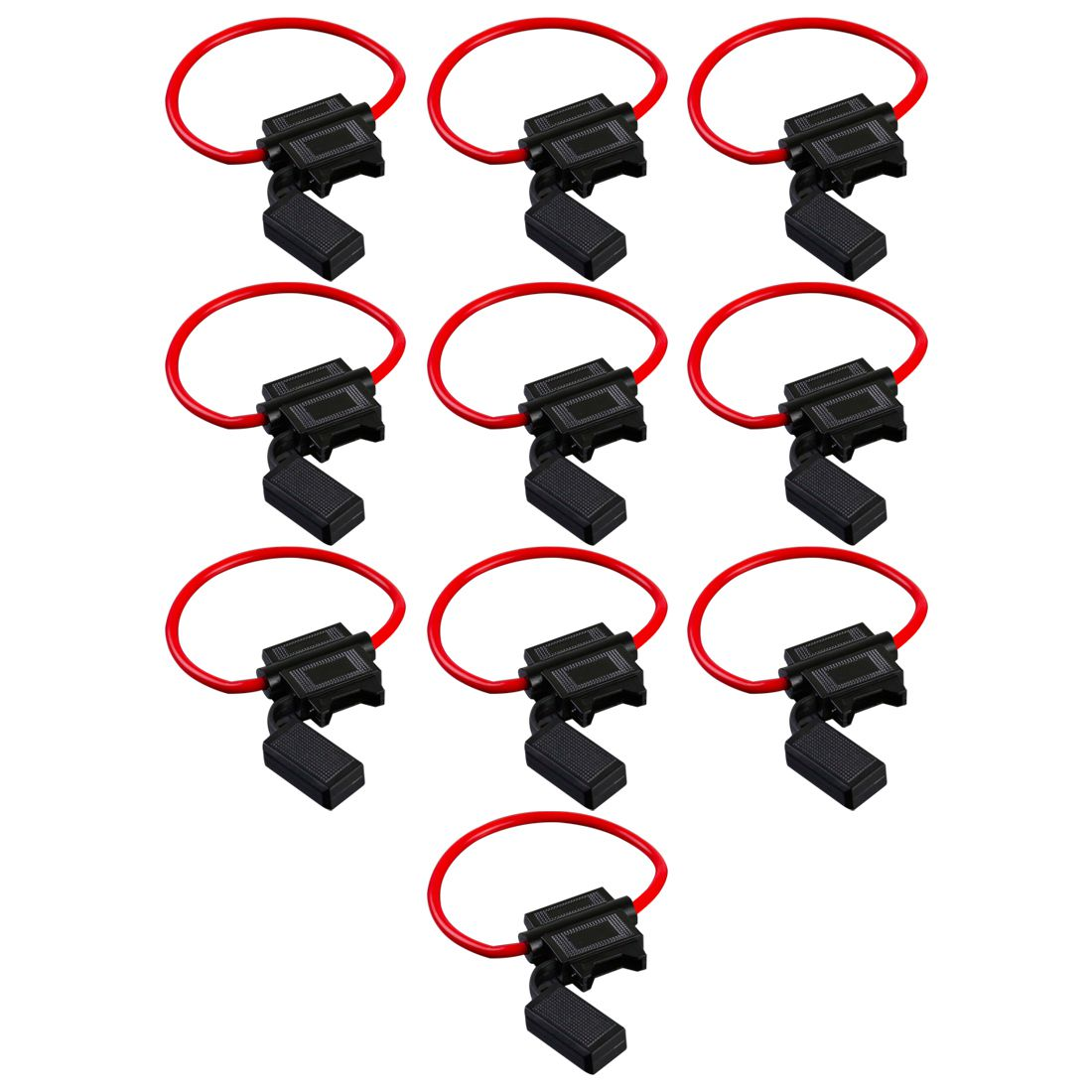 10 Pack 14 Gauge ATC In-Line Blade Fuse Holder Wire Protection N5O2 ...