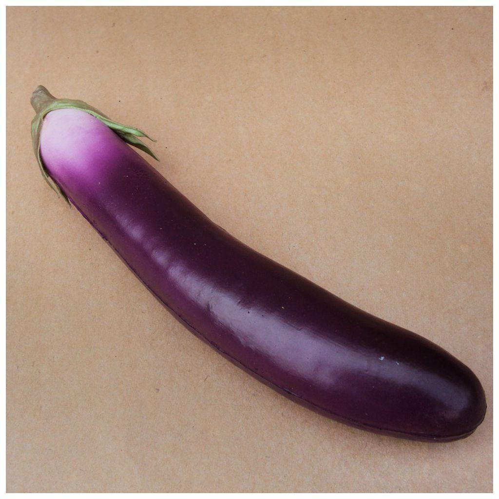 Realistic Fake Eggplant Artificial Decorative Vegetable Kitchen Decor J9G4