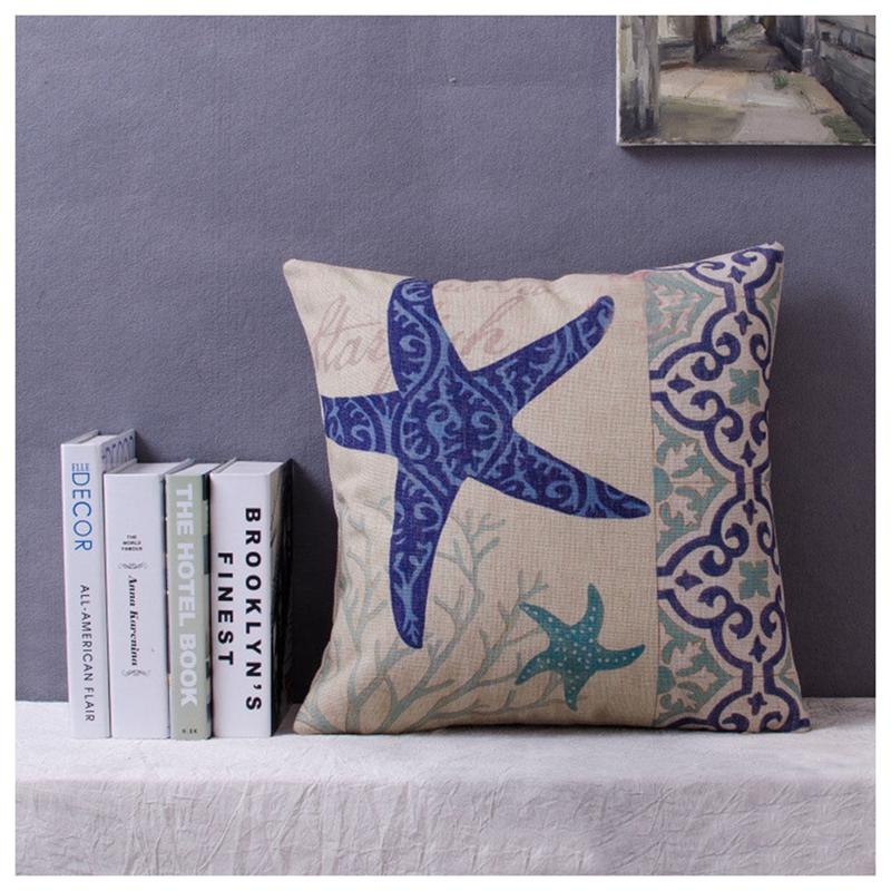 Navy-blue-Ocean-Sea-Throw-Home-Decor-Cotton-Linen-Sofa-Pillow-Case-Cushion-G8I2