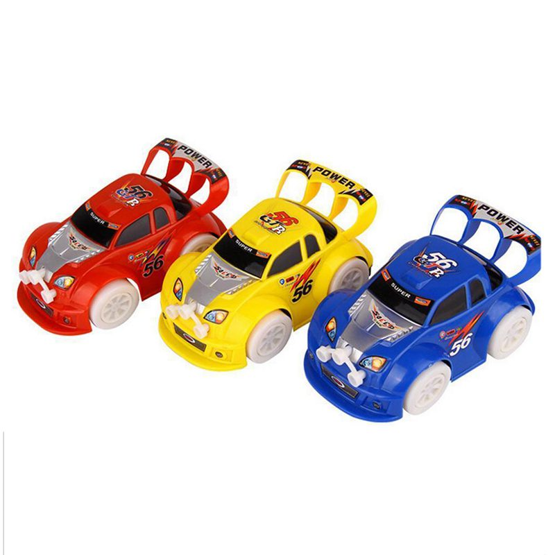 Funny Flashing Music Racing Car Automatic Toy Birthday Gift For Boy Kid L8n8