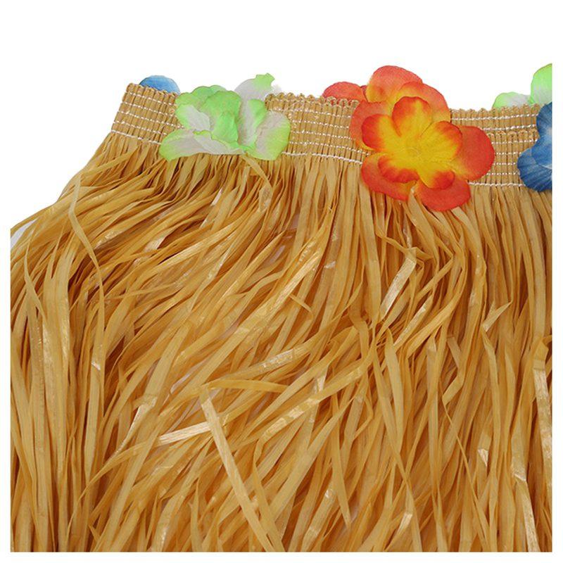 Table-Skirt-Hawaiian-Luau-Flower-Grass-Garden-Wedding-Party-Beach-Decor-Khak-9C8 thumbnail 2