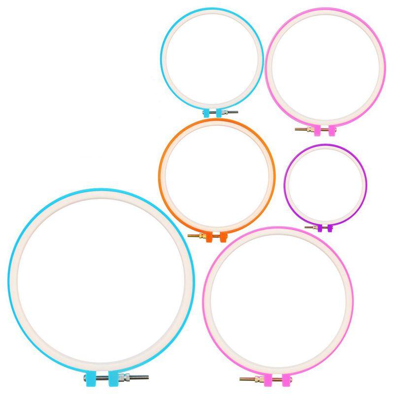 Embroidery Hoops Cross Stitch Hoop Ring Imitated Wood Circle Set Display Fr E7U8