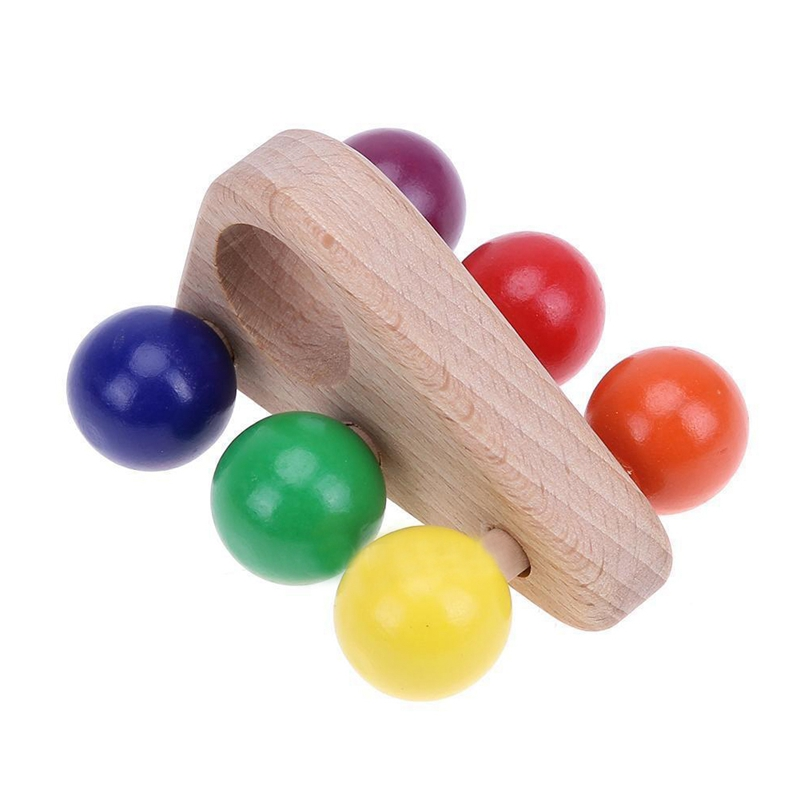 20X(Kids Wooden Grasping Toy Push Pull Car Wood Developmental Baby Toy D3I8)