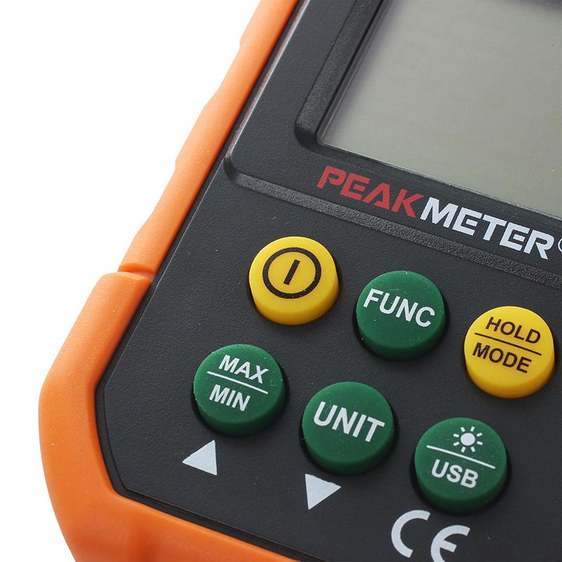 PEAKMETER PM6252B USB Digital Anemometer Air Flow Tester Meter A6C9