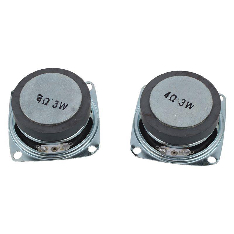 2Pcs 52mm 2 inch 4Ohm 3W Full Range Audio Speaker Stereo Woofer Loudspeaker F8Z9