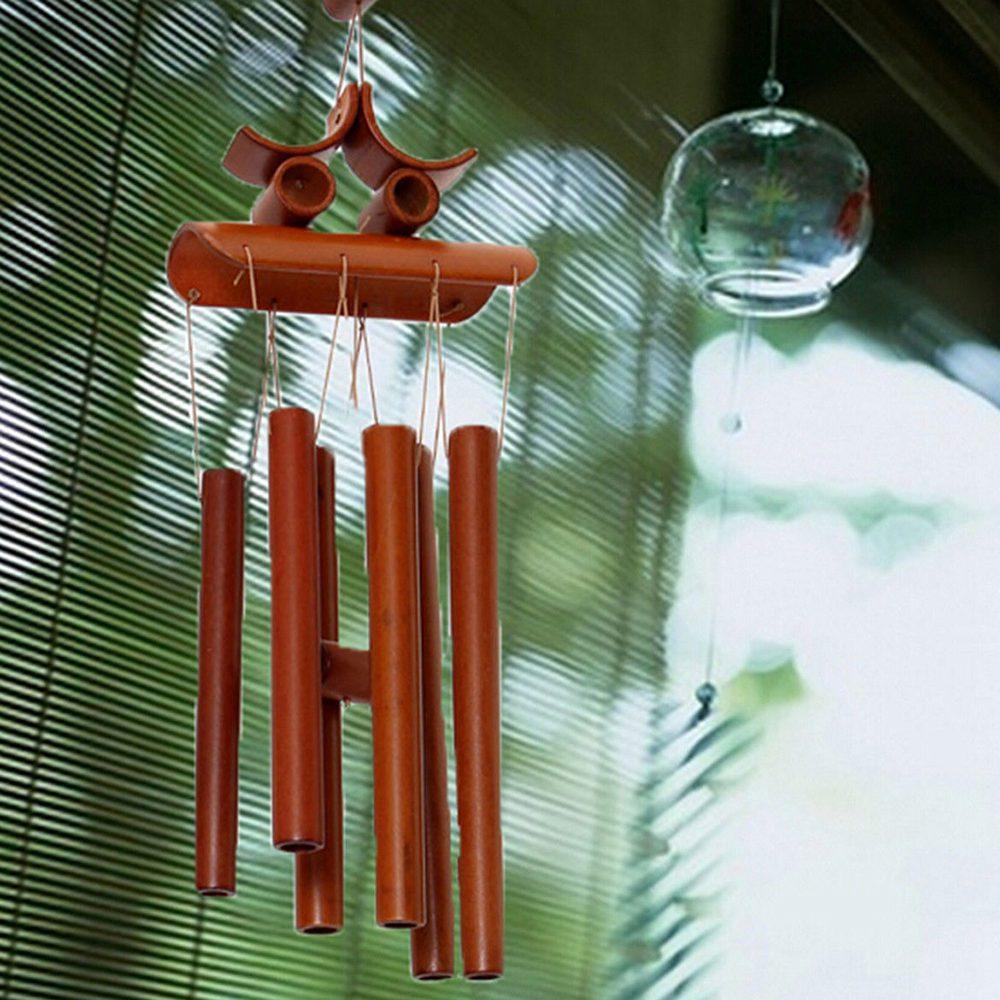 Bamboo Wind Chime Windchime Garden Yard Ornament Decoration Home ...