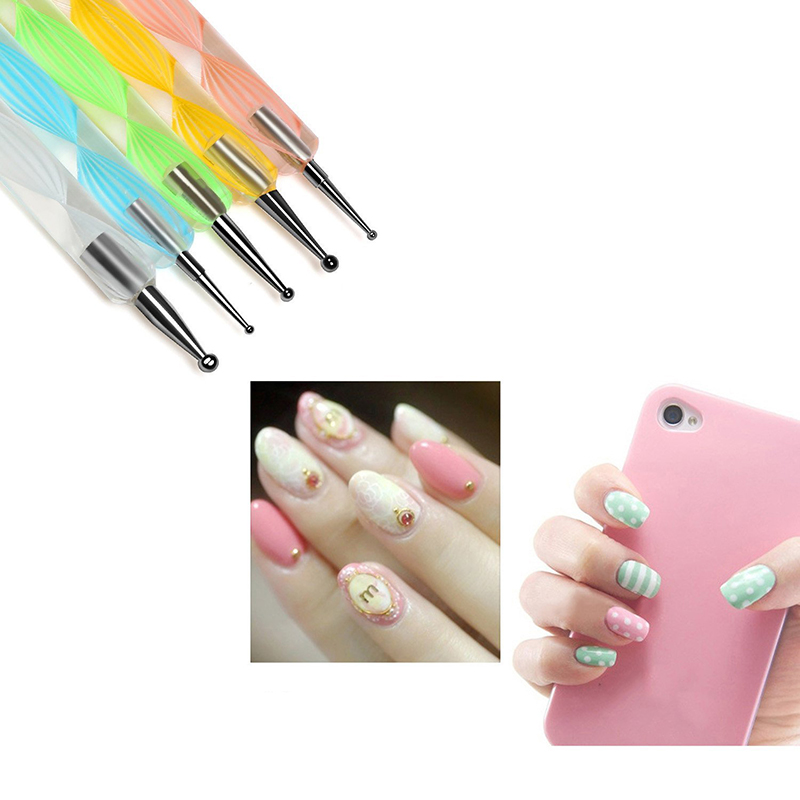 5Pcs Nail Art Pens Set, Designing Painting Dotting Detailing Point ...