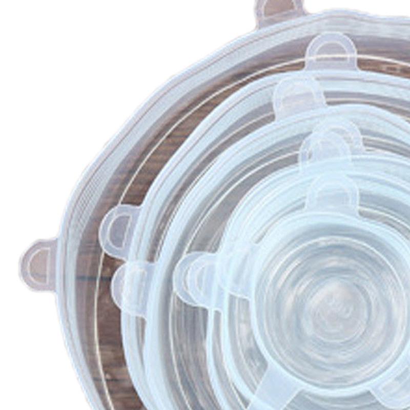 6-Piezas-Tapas-de-Estiramiento-de-Silicona-Envolturas-de-Alimentos-Frescos-F7M6 miniatura 3