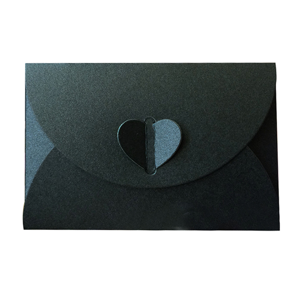 Paper heart buckle envelope for business card vip bank debit card picture 2 of 4 reheart Choice Image