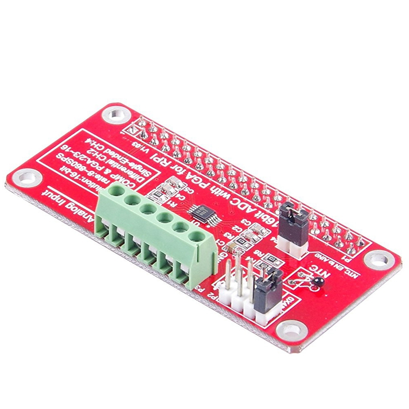 Details about 4-Channel 16Bit ADC With PGA For RPI Raspberry PI 16 Bits I2C  ADS1115 Modul K1Q3