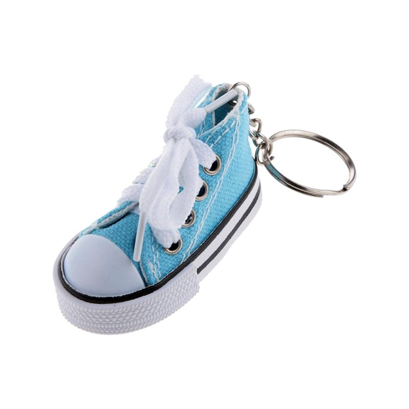 Fashion-Shoe-Pendant-Keychain-Canvas-and-Plastic-Keychain-Gift-K2M3 thumbnail 4