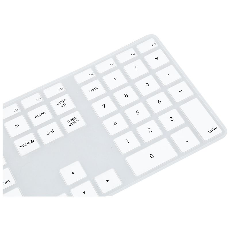 Silicone Thin Keyboard Skin Cover Protector With Numeric Keypad For Apple iM 2W9
