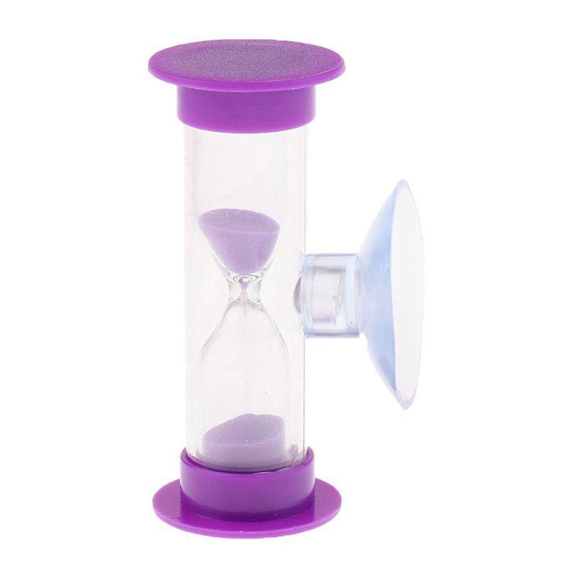 Sablier-3-Minutes-en-Acrylique-Minuterie-de-Cuisinier-Violet-Z1M6 miniature 3