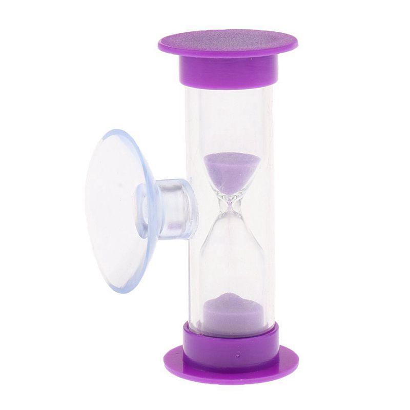 Sablier-3-Minutes-en-Acrylique-Minuterie-de-Cuisinier-Violet-Z1M6 miniature 4