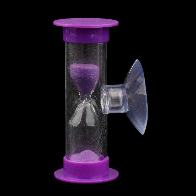 Sablier-3-Minutes-en-Acrylique-Minuterie-de-Cuisinier-Violet-Z1M6 miniature 7
