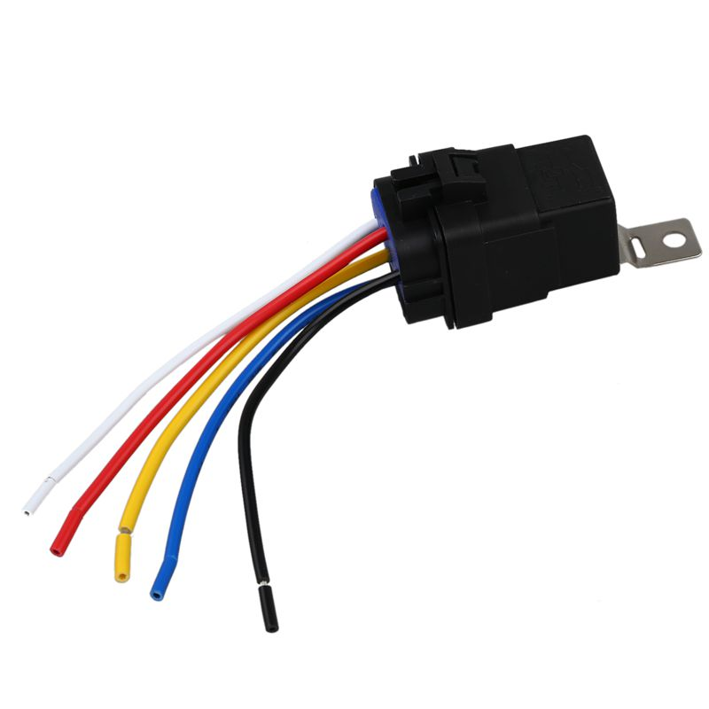 40 Amp Waterproof Relay Switch Harness Set - 12v DC 5-pin SPDT ...