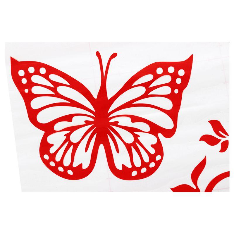 Reflektierende-Persoenlichkeit-Schmetterling-Blume-Auto-Aufkleber-Karosserie-B6E4 Indexbild 9