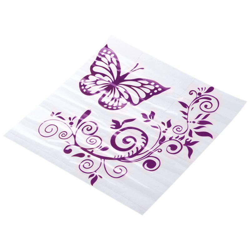Reflektierende-Persoenlichkeit-Schmetterling-Blume-Auto-Aufkleber-Karosserie-B6E4 Indexbild 11