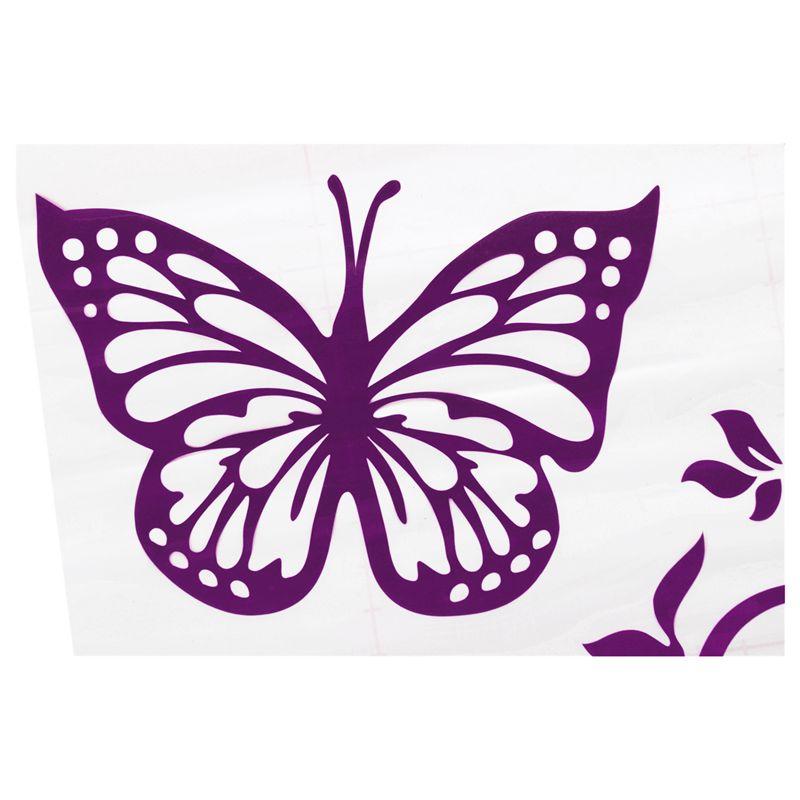 Reflektierende-Persoenlichkeit-Schmetterling-Blume-Auto-Aufkleber-Karosserie-B6E4 Indexbild 13