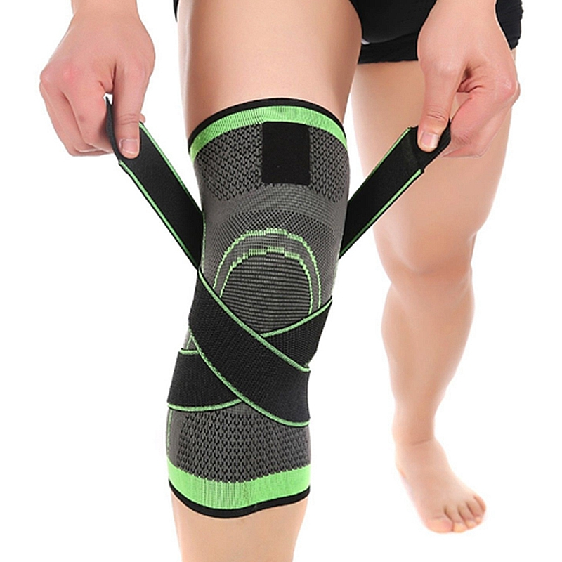 3D-weaving-pressurization-knee-brace-hiking-cycling-knee-Support-Protector-A3H7 thumbnail 3